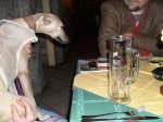 maggie in the restaurant